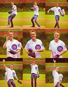 2 great things...Tom Felton and the Chicago Cubs. EPIC.