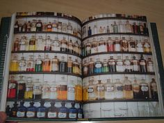 Victorian Pharmacy Book Chemist Doctor Medicine Hospital Cure Bottle Poison
