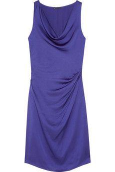 Theory  Playara draped silk-satin dress