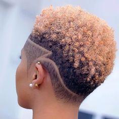 Natural Hair Short Cuts, Tapered Natural Hair, Short Sassy Hair, Short Hair Cuts, Natural Hair Styles, Short Hair Designs, Shaved Hair Designs, Short Shaved Hairstyles, Braided Hairstyles