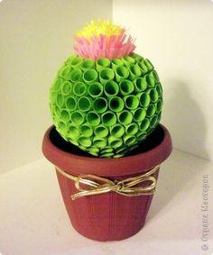 Arts Quilling: 3D quilling cactus