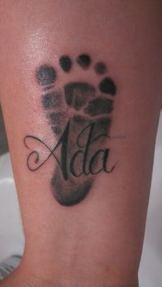 "With My nephews name in Footprint Same Lettering For ""Alizae"" ."