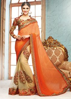We offer wide range of Desire Designer Saree. The exclusive printed georgette sarees is washable and available in various charming colours. The attractive print makes this saree very beautiful. This stunning collection is designed as per the current taste of the buyers and prevailing fashion trends.