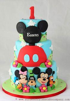 Torta Disney con Minnie, Topolino, Pippo e Pluto