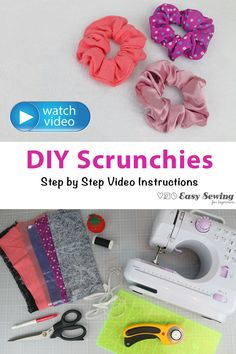 The DIY scrunchies tutorial will show you how to make your own scrunchies step by step! You will see how to make a scrunchie in the video tutorial. This well enable you to be able to custom make your own scrunchies, whether that be super large or teeny tiny. You can even make your scrunchies to suit any outfit!