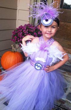 Purple minion tutu dress costume by www.blissycouture.net