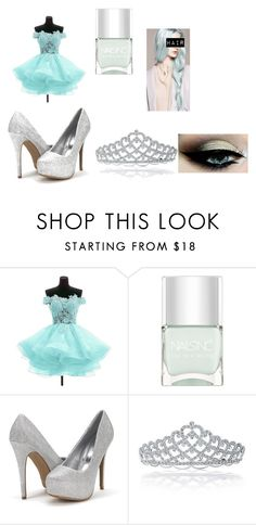 """""""Ice Queen"""" by courtneybear1 on Polyvore featuring Nails Inc. and Bling Jewelry"""