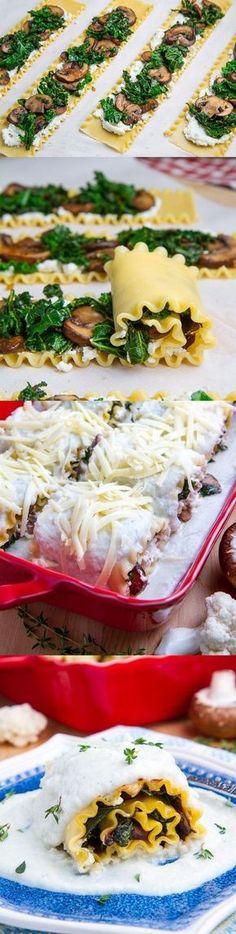 Lasagna rolls. Interesting idea.