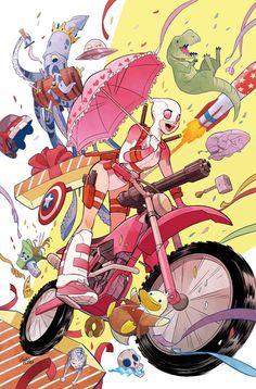 #Gwenpool #Fan #Art. (Gwenpool #1VARIANT COVER) By: FRANCISCO HERRERA. (THE * 5 * STÅR * ÅWARD * OF: * AW YEAH, IT'S MAJOR ÅWESOMENESS!!!™)[THANK Ü 4 PINNING!!!<·><]<©>ÅÅÅ+(OB4E)