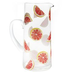 Grapefruit Segments Glass Jug ❤ liked on Polyvore featuring home, kitchen & dining, serveware, laura ashley, glass jug and glass serveware