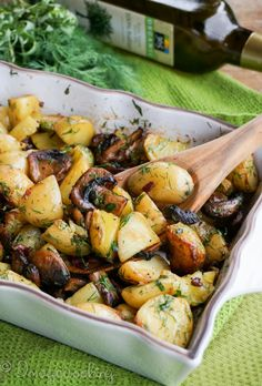 Roasted Potatoes with Mushrooms Side-dish
