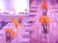 Purple and orange