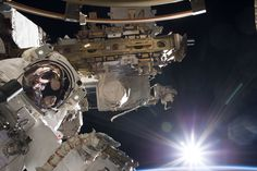 Glorious Sunrise at the Start of a Spacewalk