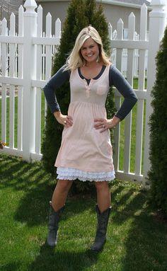 A peek-a-boo slip for under too short dresses. Genius!