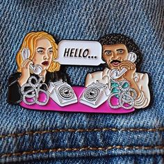 #Repost @cobalthill  Introducing my new pin HELLO! Adele and Lionel brainstorming song lyrics!! Hope you like! Available now on my Etsy store (link in bio)     (Posted by https://bbllowwnn.com/) Tap the photo for purchase info. Follow @bbllowwnn on Instagram for more great pins!