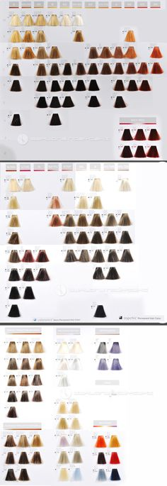 Redken Color Gels Color Chart Color Charts In 2018 Pinterest