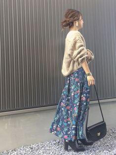 TRUNO by NOISE MAKERのスカート「【雑誌GINZA掲載商品】新色&新柄発売 ★ボタニカル花柄スカート★」を使ったHaru☆のコーディネートです。WEARはモデル・俳優・ショップスタッフなどの着こなしをチェックできるファッションコーディネートサイトです。