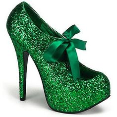 Me St. Patrick's Day Platform Heels... 'cause I am short, with red hair, like a leprechaun.