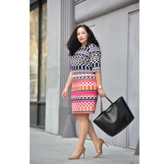 Working in an office doesn't mean you have to sacrifice style. Women Wearing Ties, Bodycon Cocktail Dress, Very Beautiful Woman, Girl With Curves, Wardrobe Basics, African Dress, Plus Size Fashion, Work Wear, Tanesha Awasthi