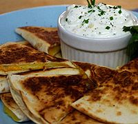 Smoked Cheddar & Jack Quesadillas    Meal: Appetizer  Cuisine: Mexican  Ingredient: Tortillas  Season: Summer  Contributor: Kitchen on Fire