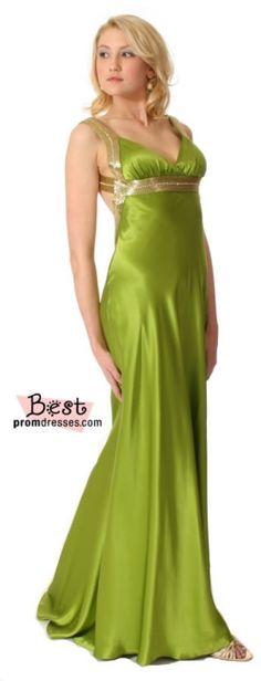 apple green prom dress