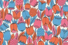 """printed cotton dress fabric by Jacqueline Groag, about 1956. Part of the """"Spun: Adventures in Textiles"""" exhibition at the Denver Art Museum."""