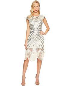 Unique Vintage Lucie Fringe Flapper Dress