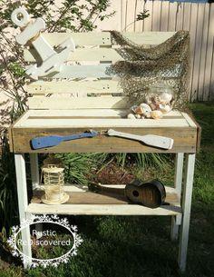 Nautical Potting Bench / Patio Bar :: Hometalk