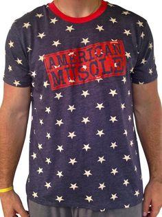 Men's American Muscle Star Tri Blend T-Shirt | SoRock Shop