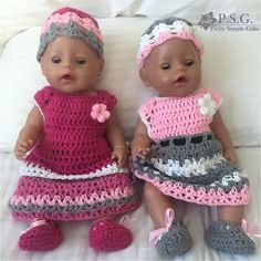 Crochet clothes for Baby Born Doll