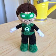 Green Lantern Amigurumi Crochet Doll Pattern por 53Stitches en Etsy