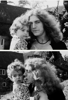 Robert Plant and baby daughter Carmen