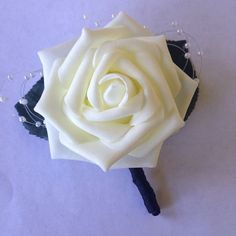 Check out this item in my Etsy shop https://www.etsy.com/listing/386871546/boutonniere-white-boutonniere-wedding