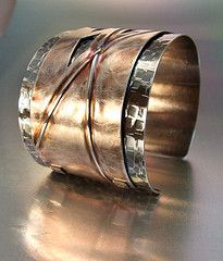 Intersecting Cuff by Melody Armstrong (sterling silver, patina)