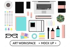Art Workspace Mockup