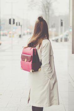 Turtleneck | Colorblock backpack | Codzienna stylizacja | Maddinka