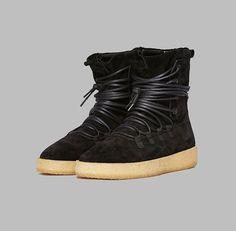 The Dusk Boots.Featuring a custom three-piece lightweight genuine crepe sole .