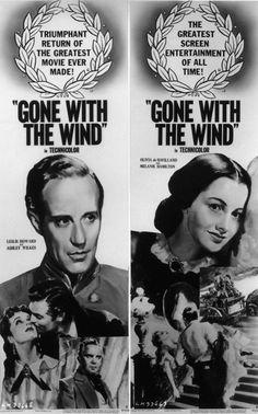 Leslie Howard and Olivia de Havilland, advertisings for Gone With the Wind