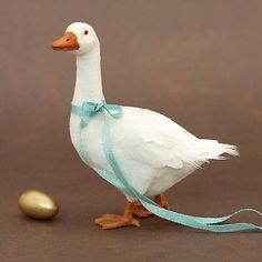 Kerri Pajutee amazing, beautiful goose with golden egg 1:12 scale miniature