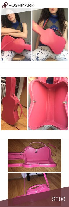 Vintage Moschino Pink Guitar Purse From Moschino's 80's Collection. Gorgeous, excellently kept authentic purse of Moschino's! Moschino Bags