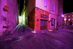 Arles, France Photograph by Jim Richardson Streetlights create a play of color on an empty street corner in Arles, a historic city in Provence, France, and the setting of many well-known works by Dutch painter Vincent Van Gogh. (For more pictures of the amazing colors of our world, buy the National Geographic book Life in Color.)