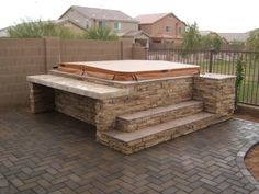 Hot tub deck plans outdoor landscaping ideas beautiful looking designs and layouts with best . hot tub designs and layouts backyard outdoor Hot Tub Backyard, Backyard Patio, Hot Tub Bar, Hot Tub Surround, Tub Enclosures, Outdoor Spa, Outdoor Hot Tubs, Outdoor Living, Patio Design