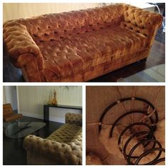 Velvet art deco chesterfield...just like the leather one in my grandfather's office.