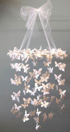 DIY Mobile - Swarming Butterfly Chandelier