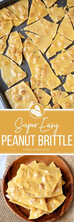 This classic Peanut Brittle recipe is easy to make and great for gift giving year-round. It's buttery, airy, and oh so addicting! It include a RECIPE VIDEO, too!  #candymaking #candy #homemadecandy #dessert #treat #ValentinesDay #Christmas