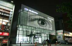 Façades | powerglass® media façade : SUBARU | Peter Platz. Check it out on Architonic