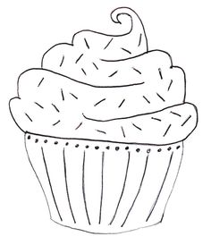 Vrij borduren cupcake patroon