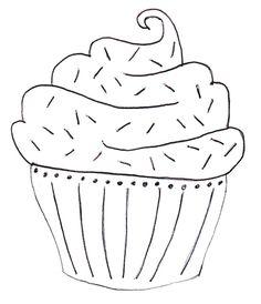 cupcake embroidery pattern