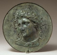 Box mirror with the head of Pan, late 4th century B.C.; Hellenistic