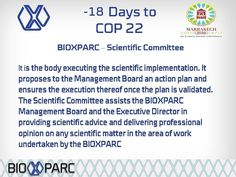 #cop22 #biotechnology #bioxparc #scientificcommittee #science #research